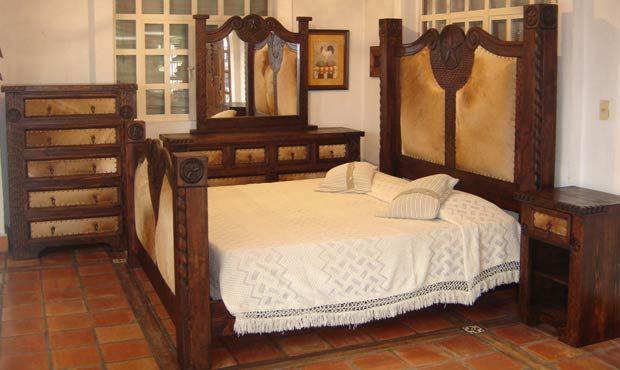 Prieta Grande Cowhide Bedroom Set | Decor: Bdrm/Loft/Log House ...