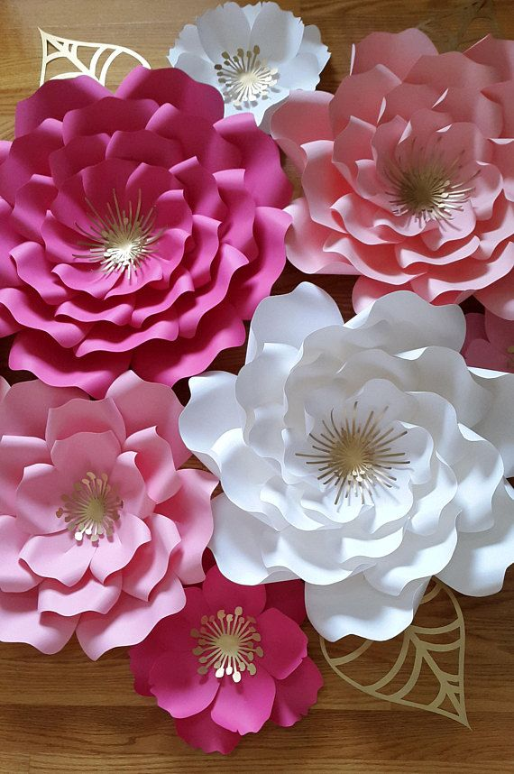 Paper Flower Backdrop Paper Flower Nursery Decor Paper