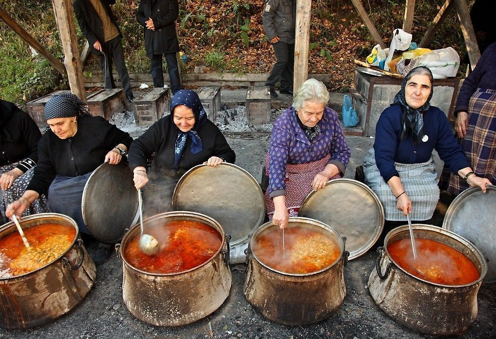 '...And food for all' by Hercules Milas #mazedonischesessen ...And food for all by Hercules Milas | Redbubble #Greece #Greek #Macedonia #Macedonian #Pieria #feast #old #lady #ladies #woman #women #grandmother #grandmothers #grannies #granny #cook #cooking #food #meal #community #feast #fiesta #beans #soup #cauldron #cauldrons #together #portrait #portraits #portraiture #every #day #daily #life #scene #scenes #friends #traditional #gastronomy #cuisine# travel #destination #destinations #sight #mazedonischesessen