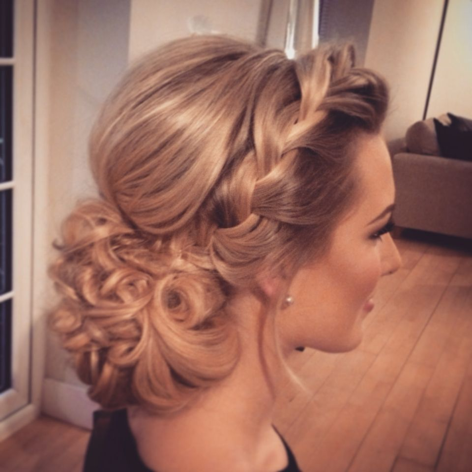 hair up with braids, wedding hair, bridal hair, hairstyles, updo