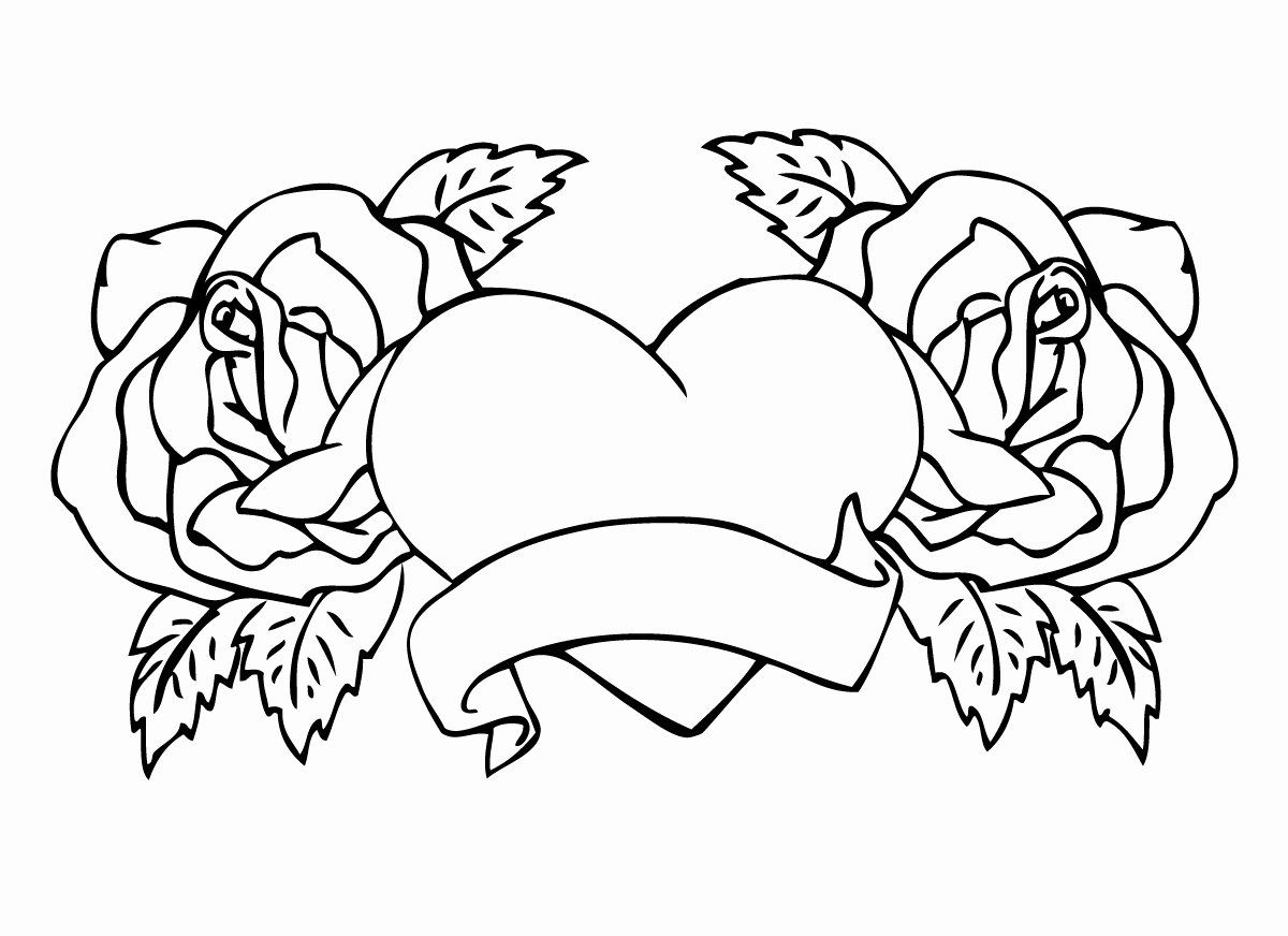 Coloring Pages Flowers Roses Inspirational Hearts And Roses Coloring Pages Getcoloringpages In 2020 Heart Coloring Pages Rose Coloring Pages Unicorn Coloring Pages
