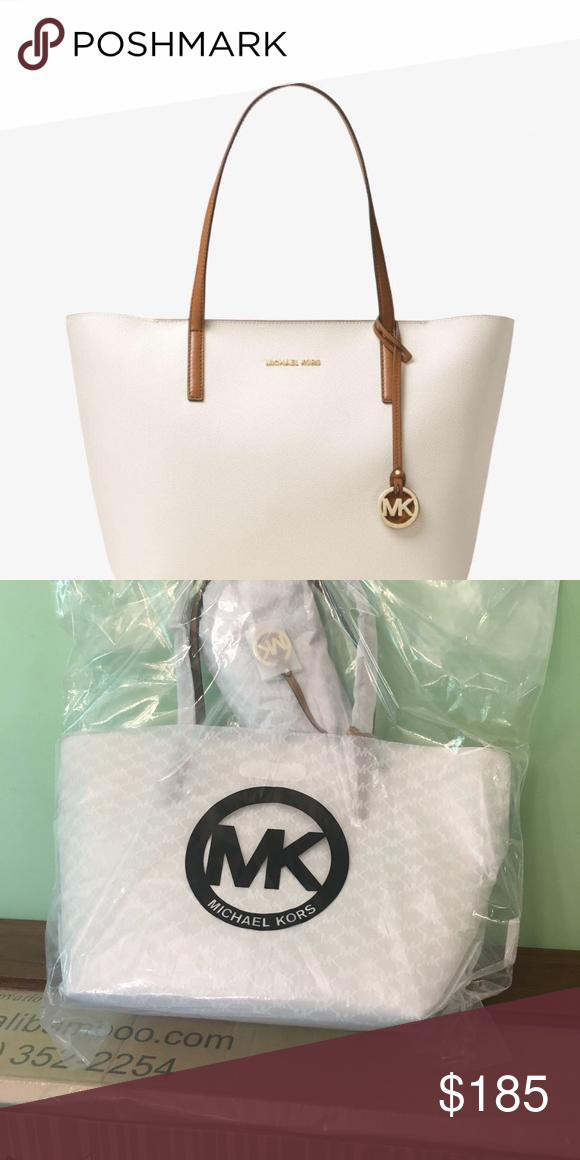 e145ac5a49f7 Brand new Michael kors tote bag This is a brand new Michael kors  vanilla acorn Hayley canvas tote bag. The bag is sealed in its original  packaging and never ...