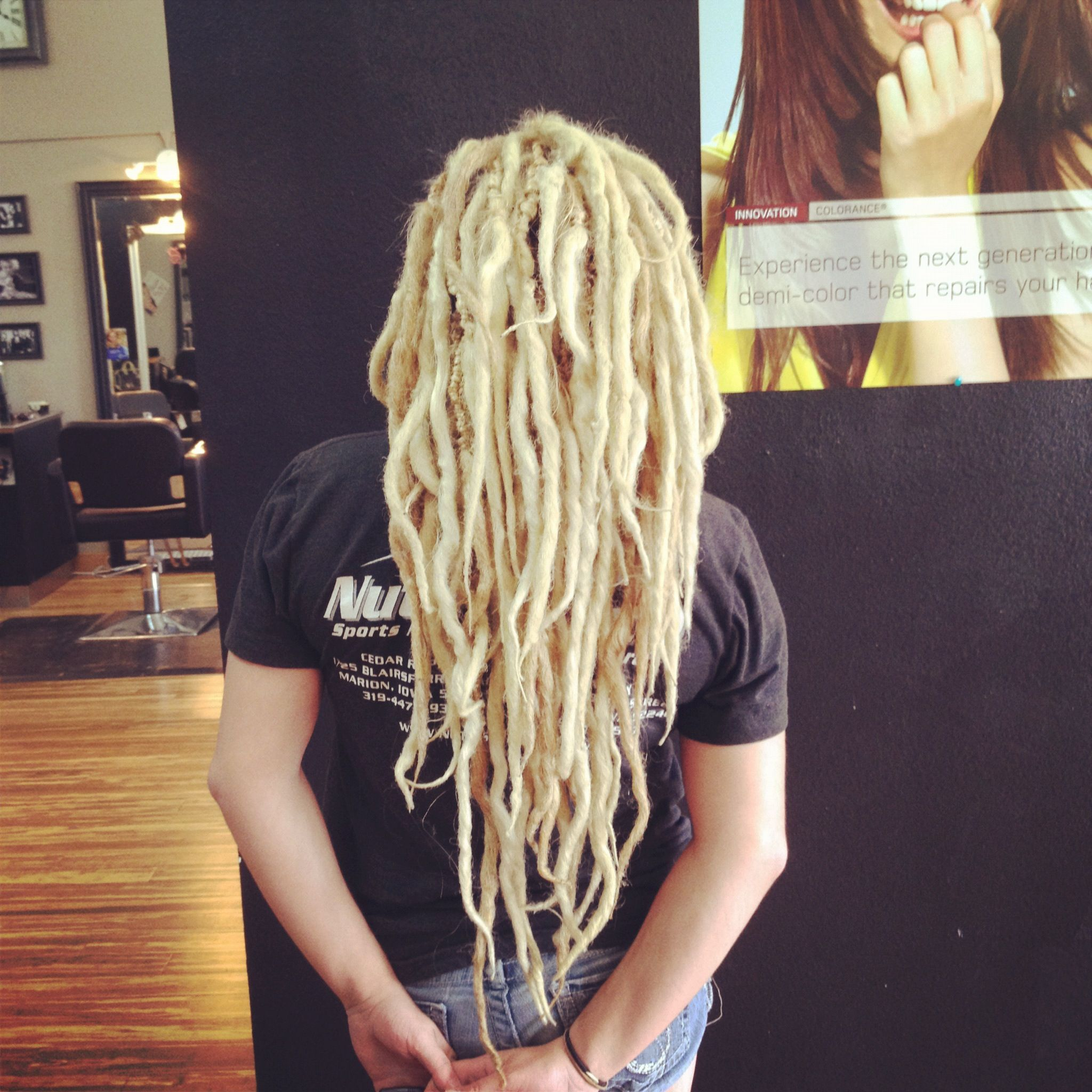 Double Ended Dread Extensions By Juliet Fix Salon Cedar Rapids Iowa Double Ended Dreads Dread Hairstyles Double Ended Dreads Extensions