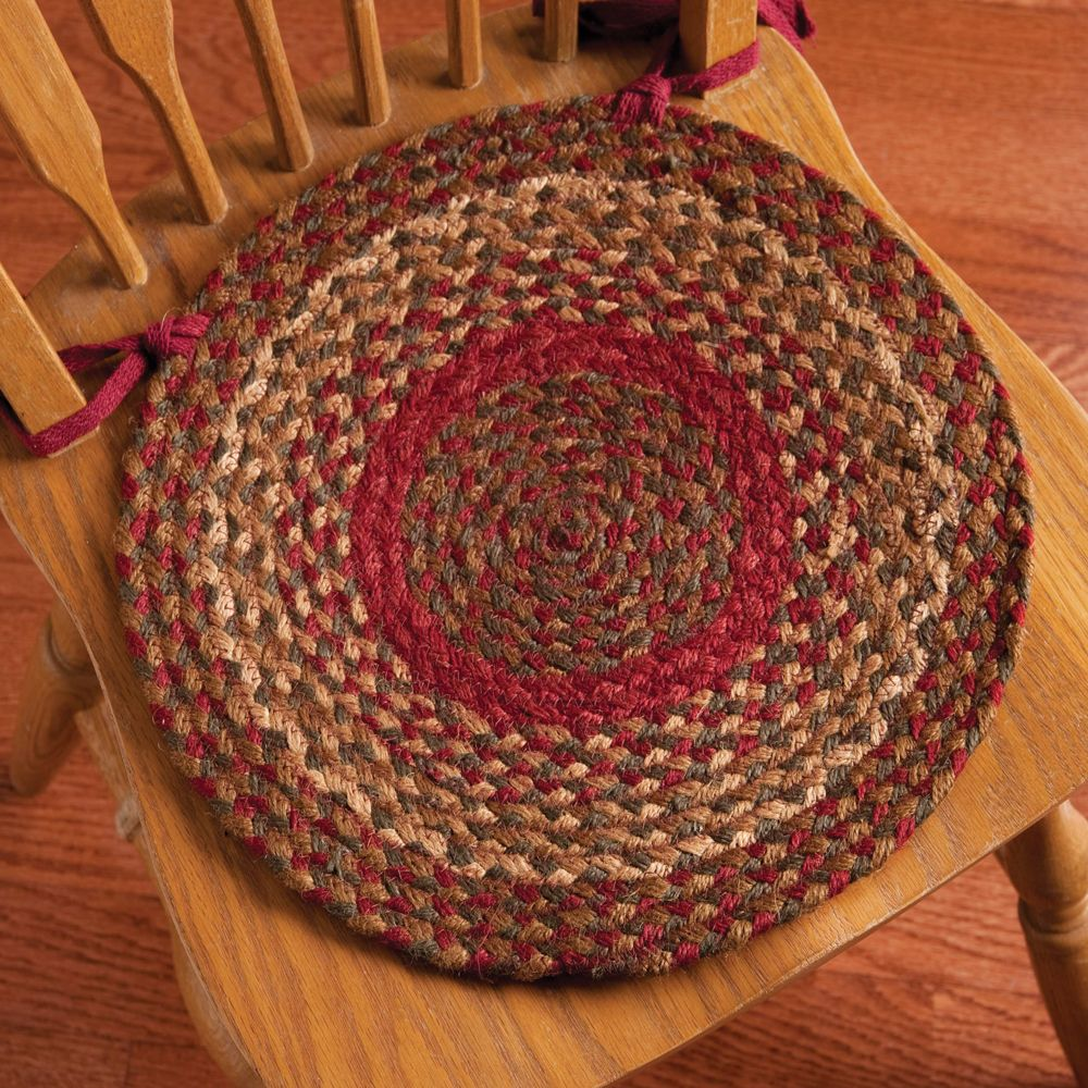 Our Collection Of Cinnamon Braided Round Chair Pads, Made From  #high Quality Of