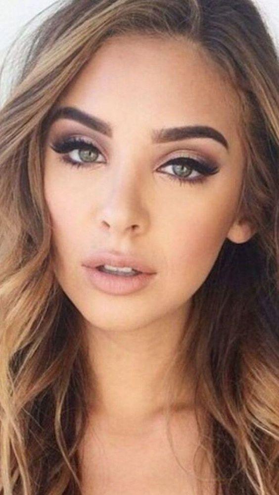 Natural wedding makeup for light brown skin