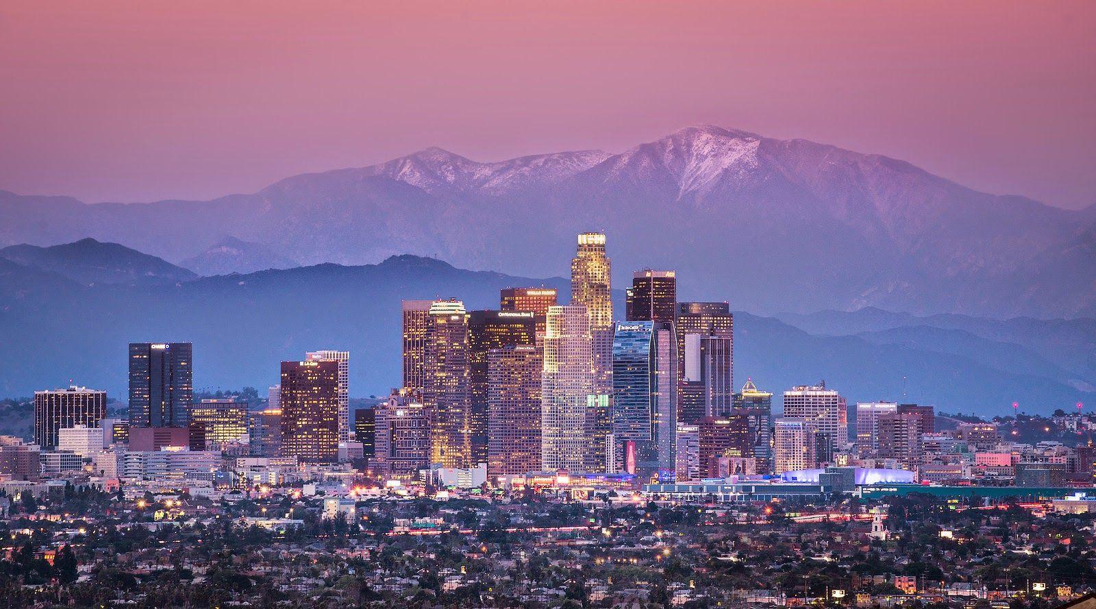 Los Angeles Skyline 1980 39 S 2019 Blade Runner Prediction And Los Angeles Skyline Skyline Mount Baldy