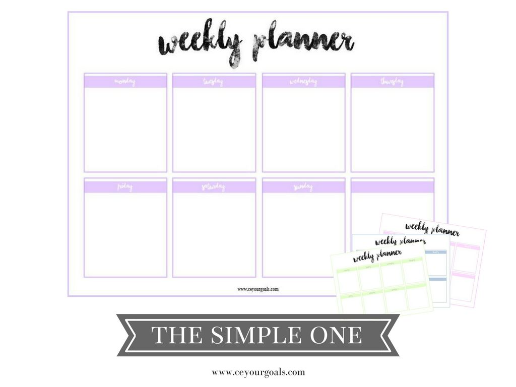 Weekly Planner  Weekly Planner Free Printable And Planners