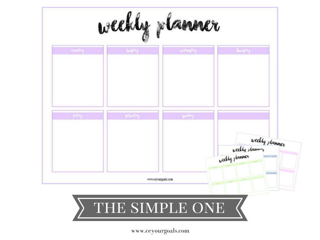 weekly planner | Pinterest | kostenlose Vorlagen, Wochenplaner und ...