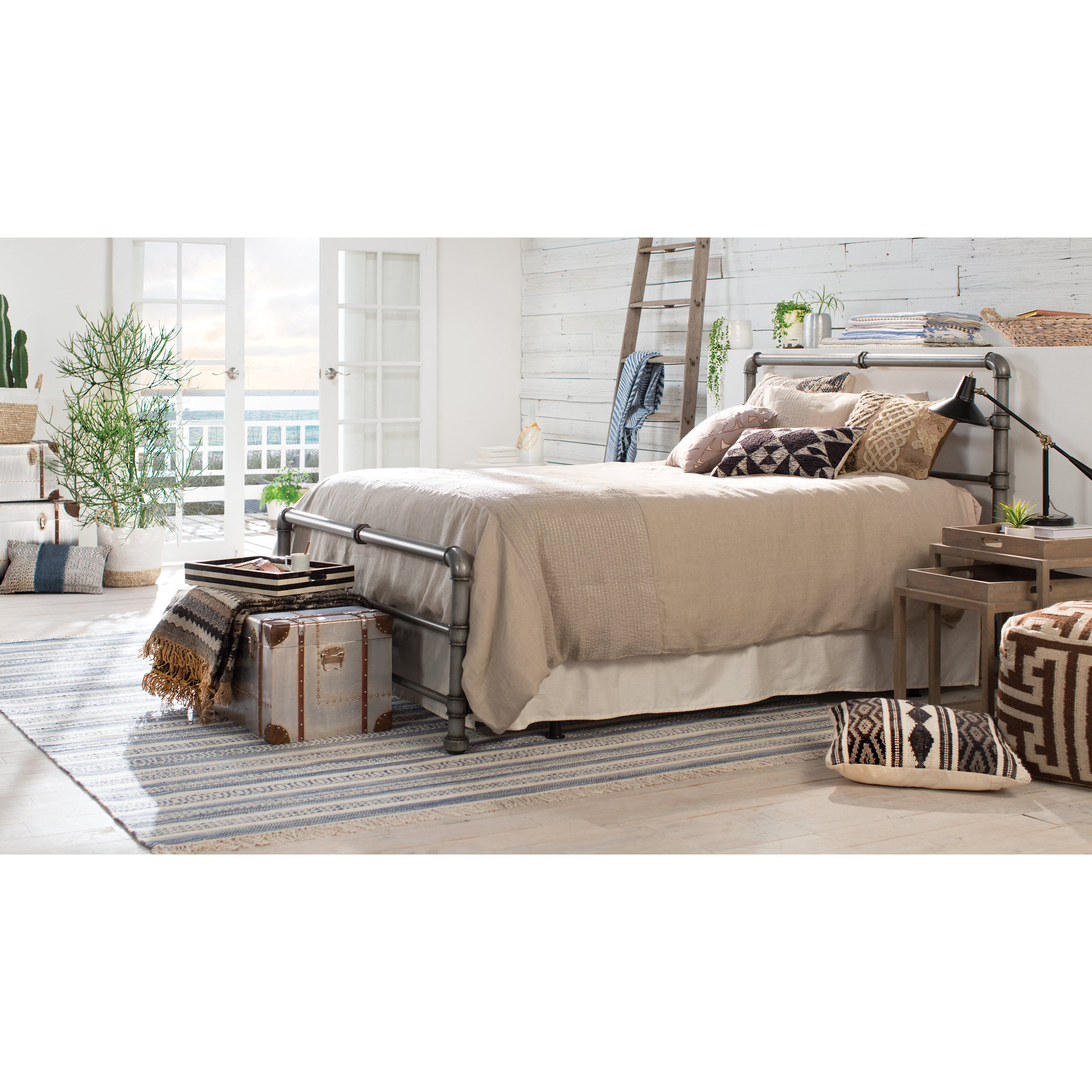 how to create an industrial chic bedroom  hayneedle