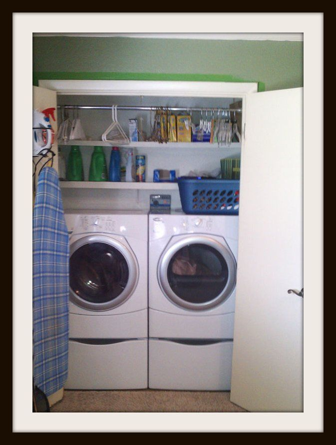 Laundry Linen Closet Washer Dryer Laundry Closet Organization