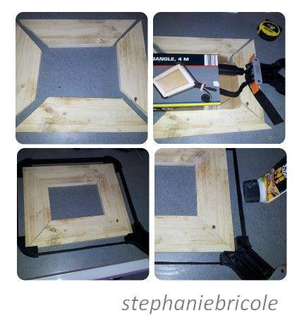 DIY idée déco - faire soi-même un cadre récup avec du bois de