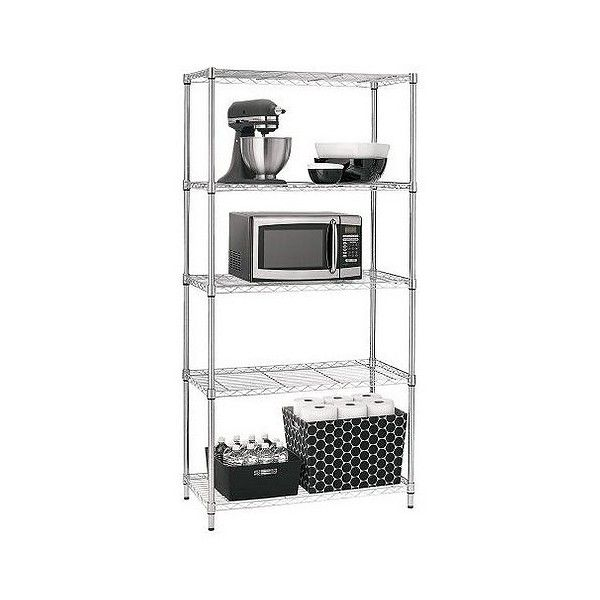 Adjustable 5 Tier Wire Shelving Unit 50 Liked On Polyvore
