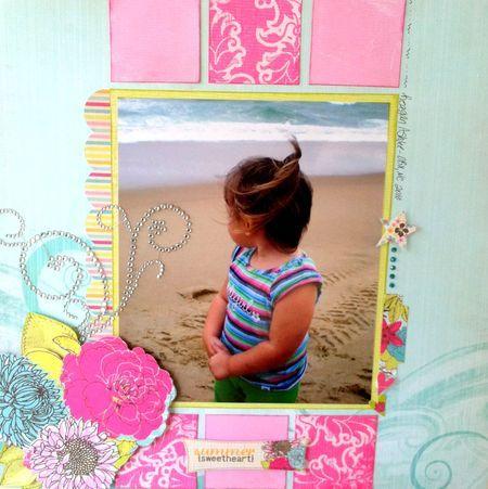 """Summer Sweetheart Layout"" by Emily Lanham, Design Team member."