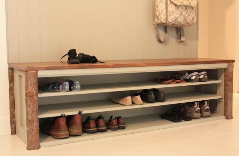 Under Bench Shoe Storage