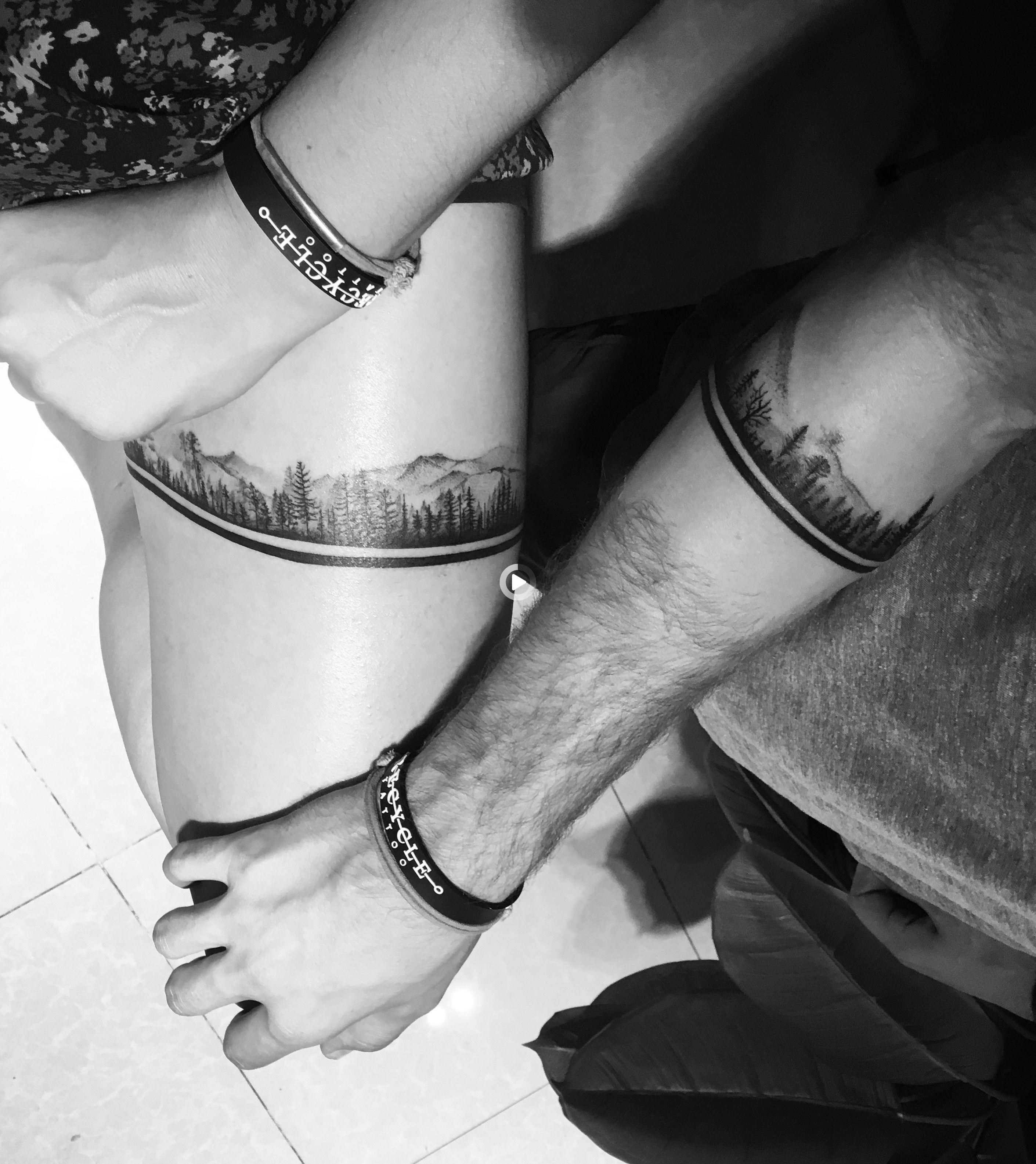 Mann band unterarm tattoo 53 Schrift