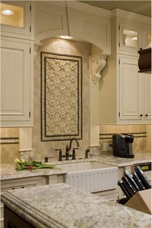 Like Idea Accent Since There Is No Window Above Sink Traditional Victorian Colonial Kitchen By Marianne Fishman