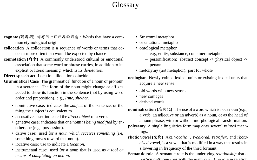 Create a Glossary in R Markdown - Yongfu's Blog | Rmarkdown and