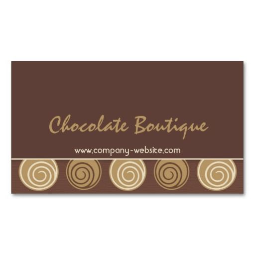 Chocolate business card colourmoves
