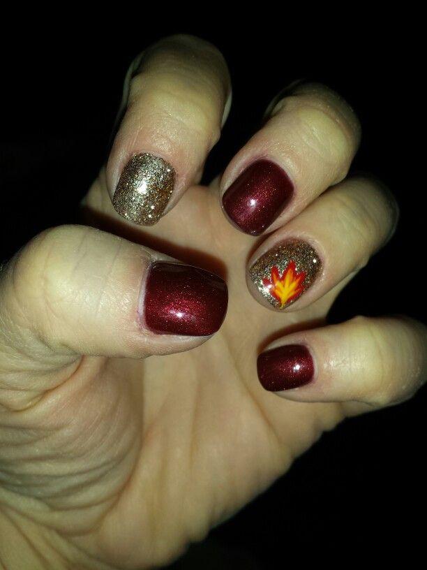Fall shellac nails | Shellac nails, Nails, Cute nails