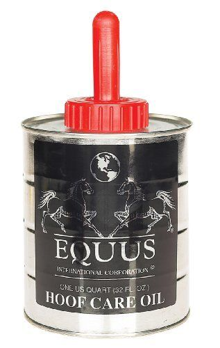 Hoof Care Oil - 32 oz by Equus International. $13.49. A natural hoof oil specifically designed for sand, cracks, and as a prevention for contracted heels in hot and dry climates. Use 3-4 times per week or once a day during summer months for prevention or as needed. Contains emu oil, aloe, cottonseed oil and essence.