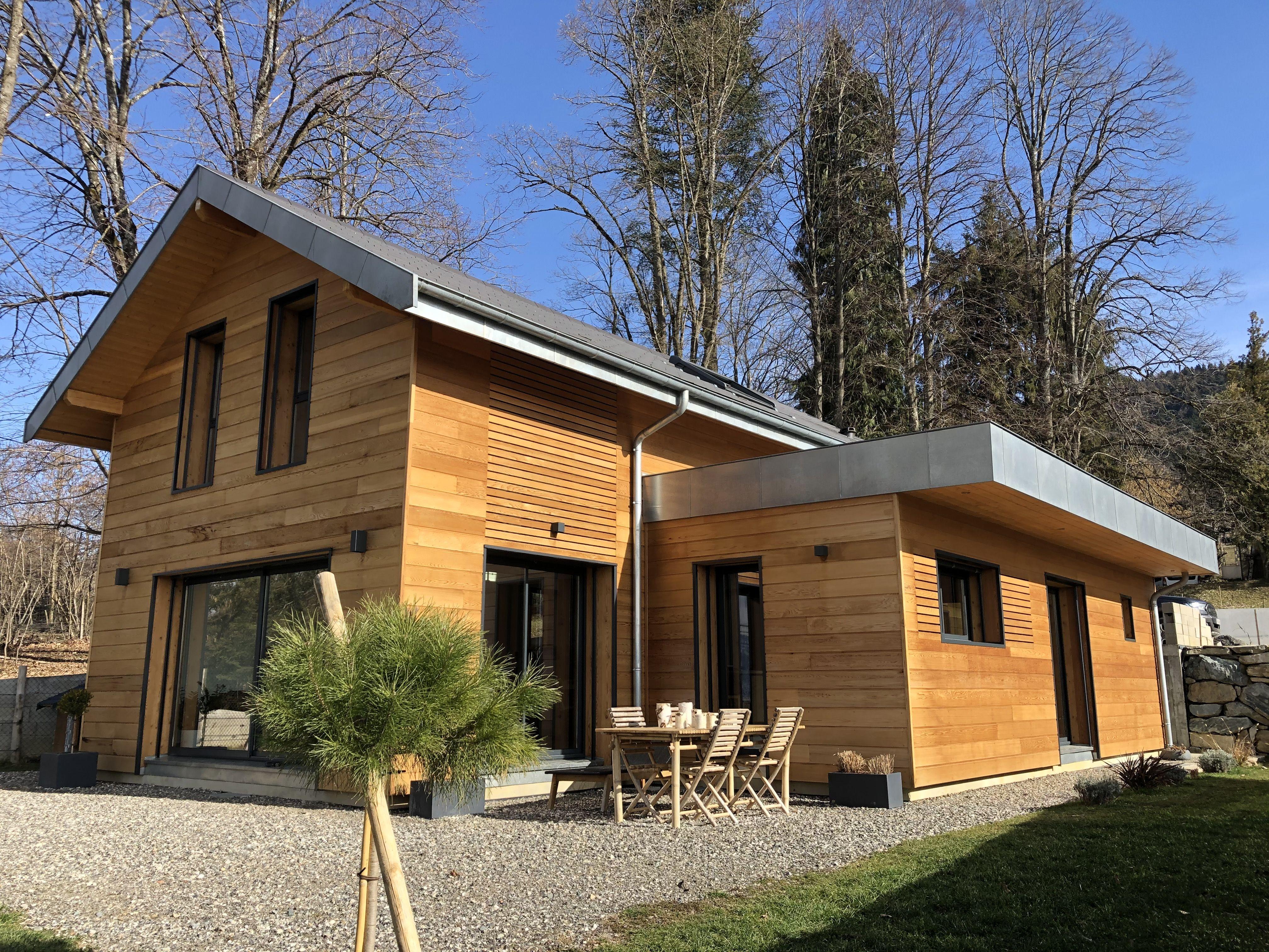 Maison Individuelle Saint Martin D Uriage En 2020 Maison Ossature Bois Plan Maison 100m2 Maison Bois
