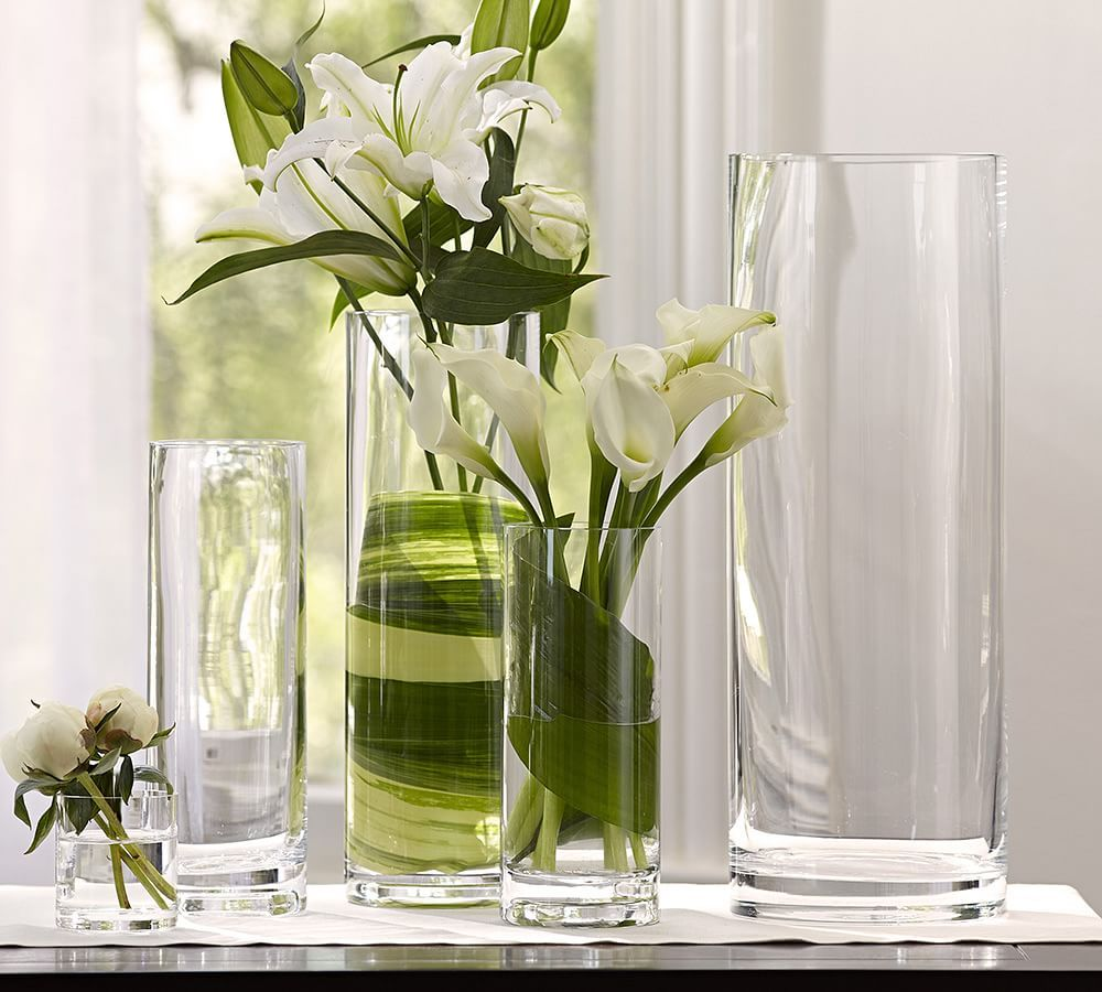 Aegean Clear Glass Vases Pottery Barn With Images Clear