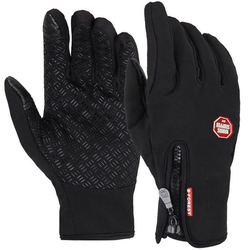Cycling Motorcycle Gloves Windproof Winter Warm MTB Bike Full Finger Touchscreen