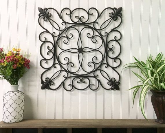 Metal Fleur De Lis Wall Hanging 32 Colors Faux Wrought Iron French Country Sslid0258 Wall Scroll Outdoo Metal Wall Decor Wall Decor Toilet Paper Roll Wall Art