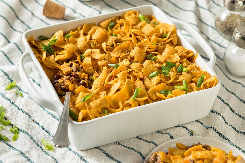 Casserole Recipes: This Baked Frito Pie Recipe Has a Unique Twist to It