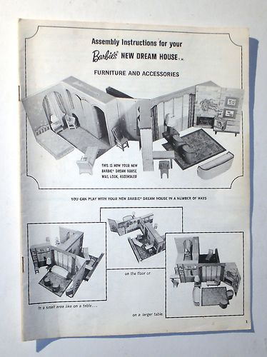 Vintage Barbie New Dream House Instructions 1964 Ebay Barbie