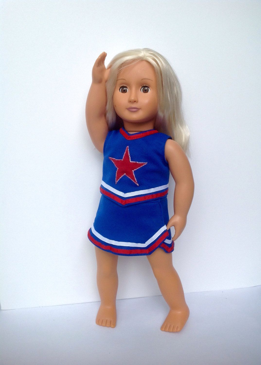 Cheerleader outfit for 18 inch dolls, red white and blue cheer skirt and top   Dresses   Doll Clothes #18inchcheerleaderclothes #18inchcheerleaderclothes Cheerleader outfit for 18 inch dolls, red white and blue cheer skirt and top   Dresses   Doll Clothes #18inchcheerleaderclothes #18inchcheerleaderclothes