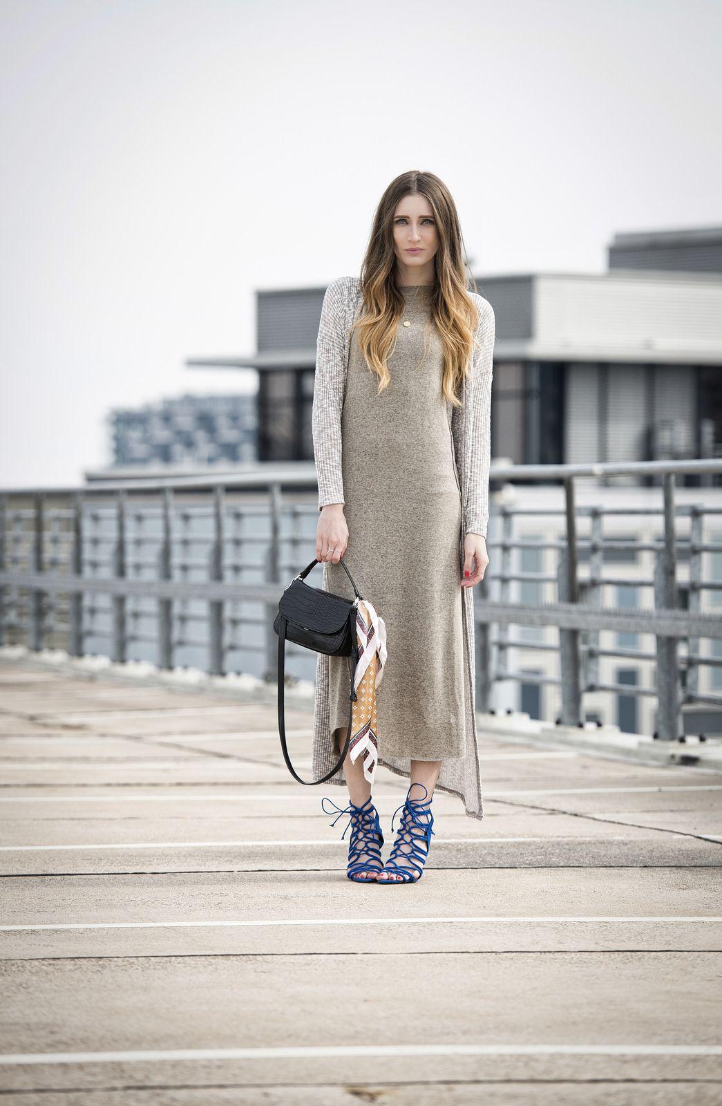 Zara Maxi Dress & Forever 21 Long Cardigan | Lisa Fiege | German ...