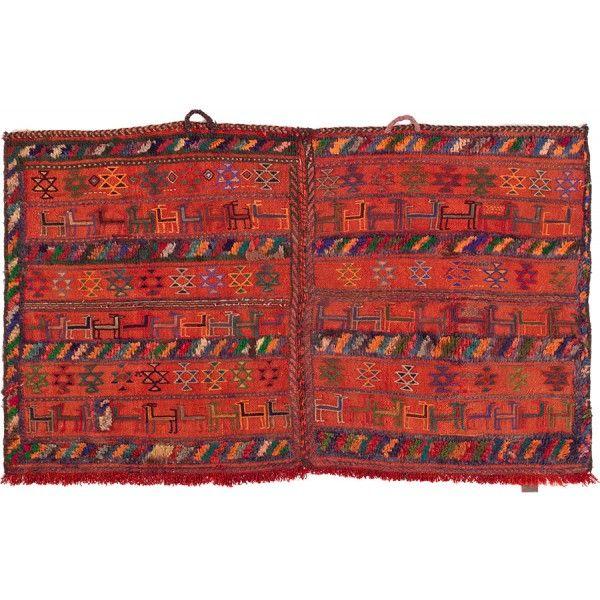 Nomadenkelim Webteppich Bakhtiar rot-orange, bestickt von KHODAI-Handmade Carpets