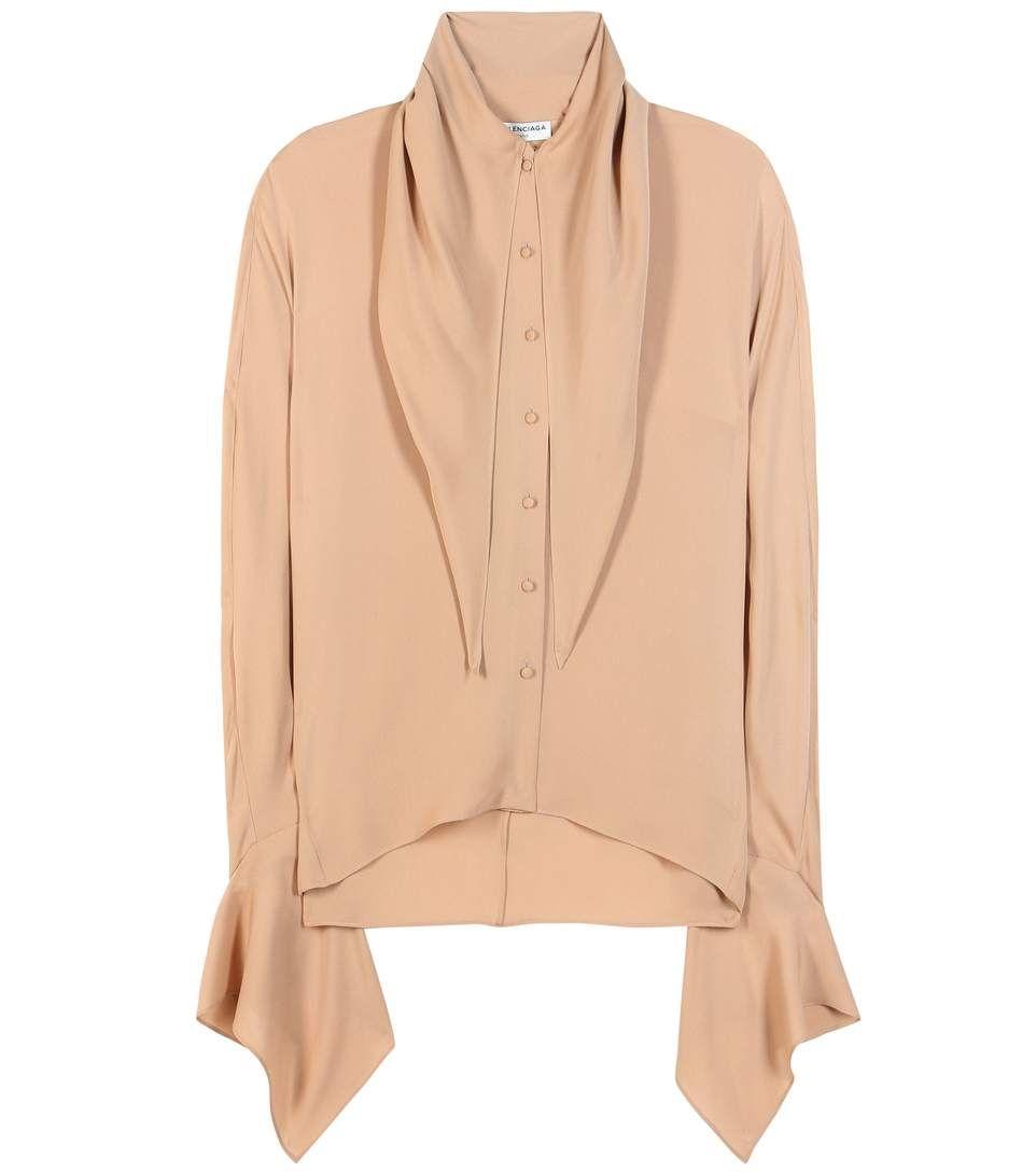 8a043203cd198 BALENCIAGA Silk Blouse.  balenciaga  cloth  tops