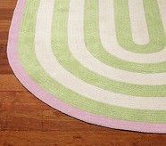 Capel Spiral Oval Rug 3x5' Bright Pink and Blue