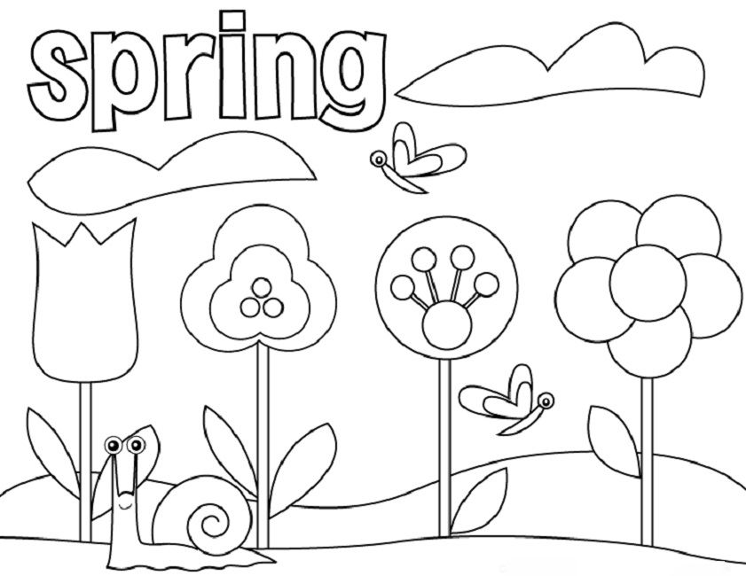 Free Springtime Coloring Pages Produk Free preschool coloring pages spring