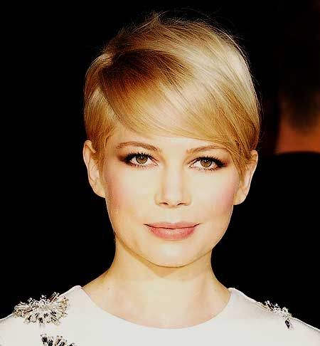 Short Lovely Blonde Pixie Hairstyle