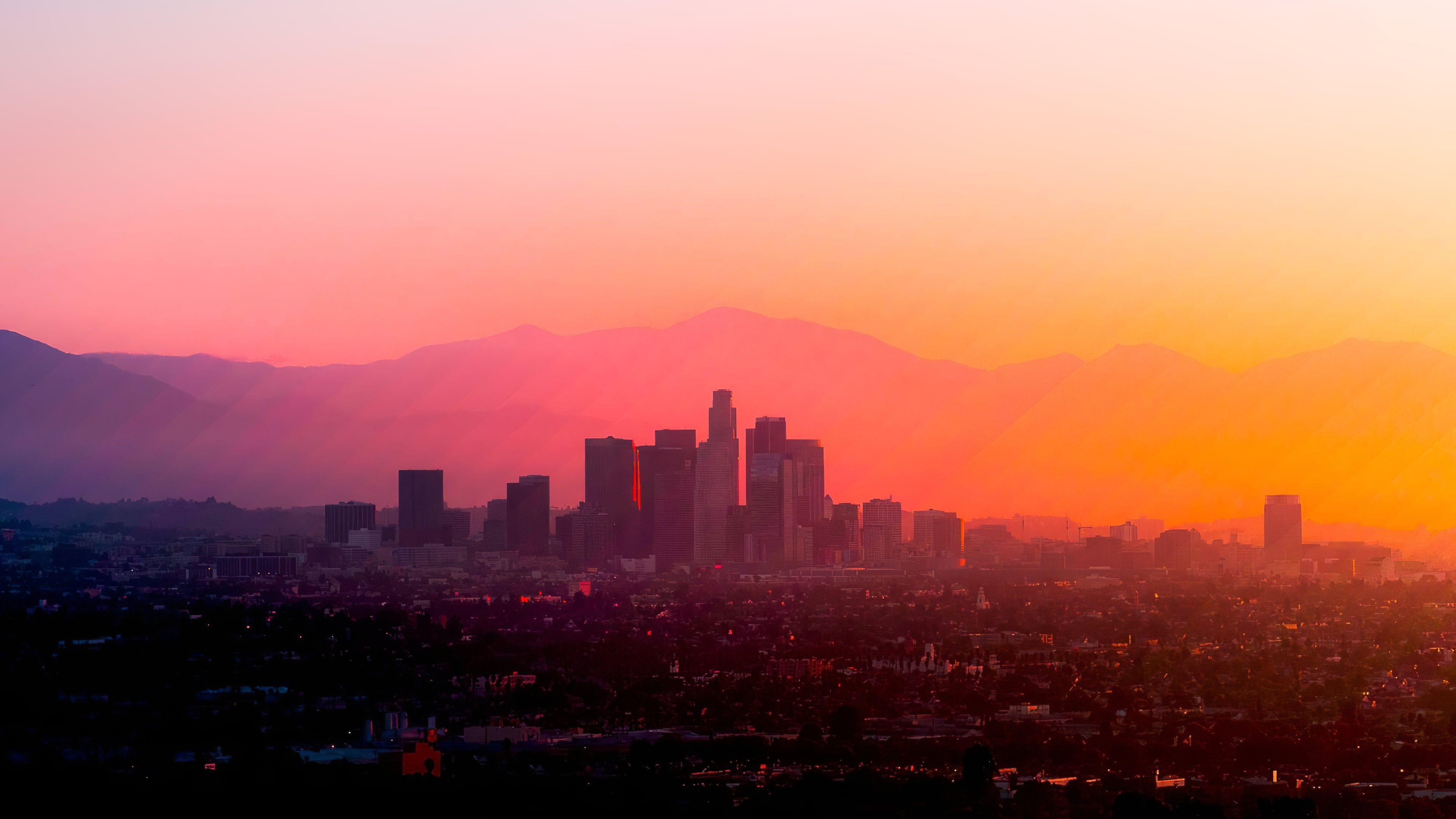 Los Angeles 4k Wallpaper In 2020 Los Angeles Wallpaper Desktop Background Images Background Images