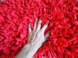 Artes anas alfombra de trapillo con nudo a mano o con aguja diy pinterest alfombras de - Como hacer alfombras de nudos ...