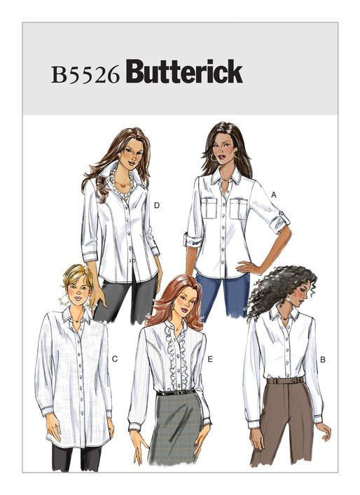 926e087c B5526 | Misses' Button-Down Collared Shirts Sewing Pattern | Butterick  Patterns Mccalls Patterns