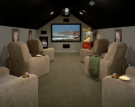 Affordable media room decor