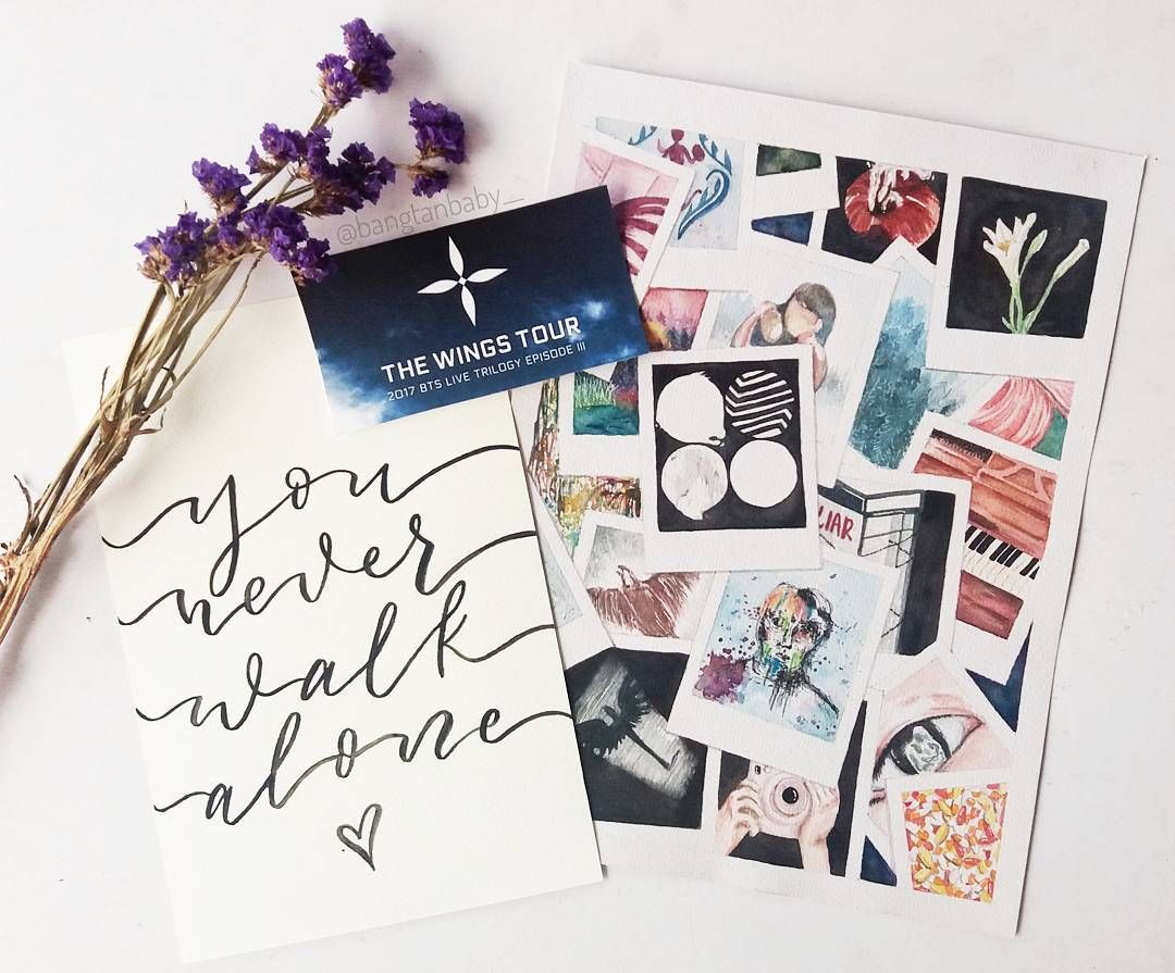 Pin on bts calligraphy