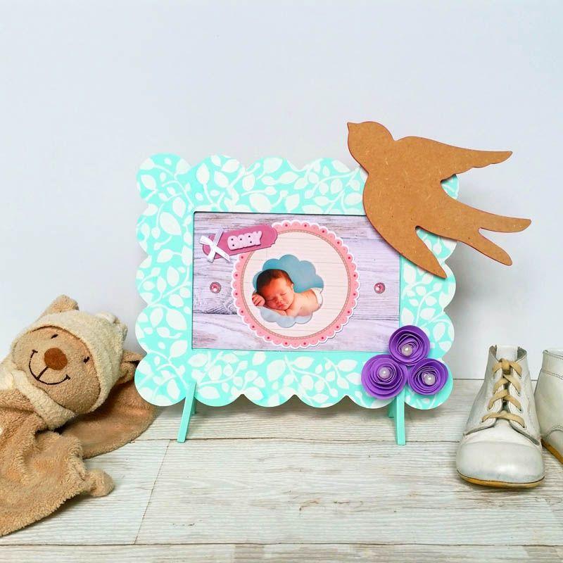 Cadre petit beurre en bois pour la chambre du bébé avec une petite - peinture en bombe pour bois