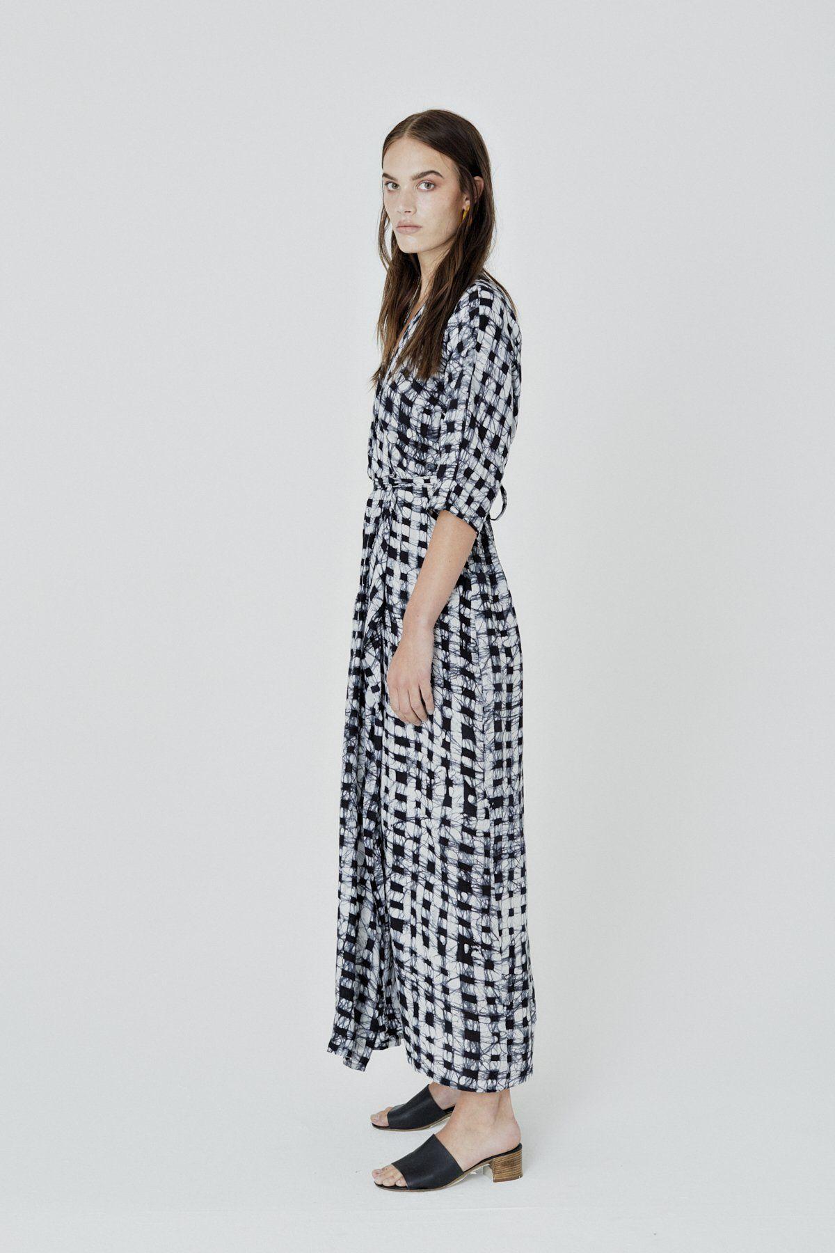 Letsa Wrap Dress in Excel Doc in 2019 | wear | Dresses, Wrap Dress