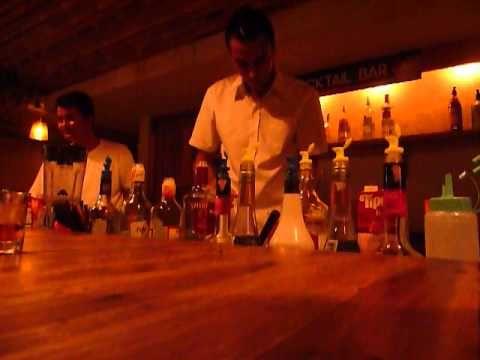 Video Cha Cha Moon Chaweng Beach Drinking & Making Cocktails Samui P1070692