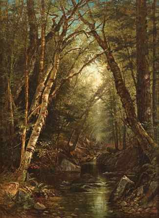 Susie M. Barstow (1836-1923), Landscape, 1865, Oil on canvas, 30 x 22 inches.