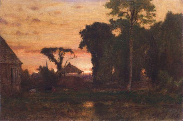 George Inness (1825-1894), Evening at Medfield, Massachusetts - 1869