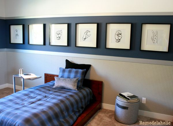 Boys Room With Wainscoting And Art Remodel Bedroom Teenager
