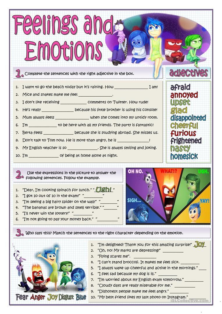 FEELINGS AND EMOTIONS worksheet - Free ESL printable worksheets made ...