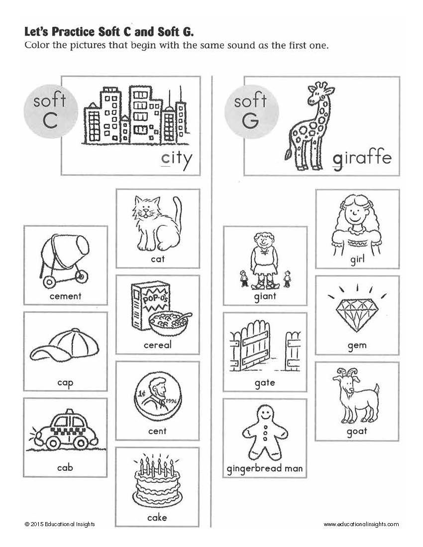 Workbooks soft g and c worksheets : Simple summer activities to help prepare kids for Kindergarten ...